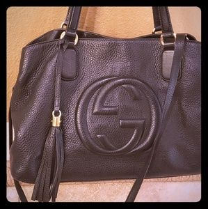 Large black shoulder bag  gucci